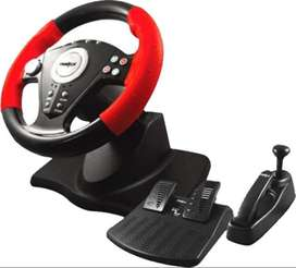 Frontech Gaming Wheel Dual Shock USB 2 + Gear & Pedals