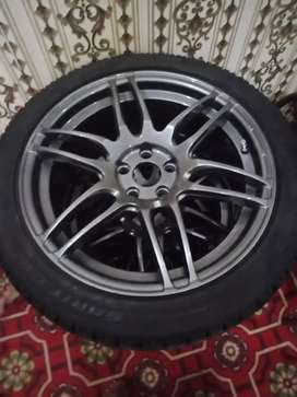 sports car Tyre and alloy rim 17 number 2019 model