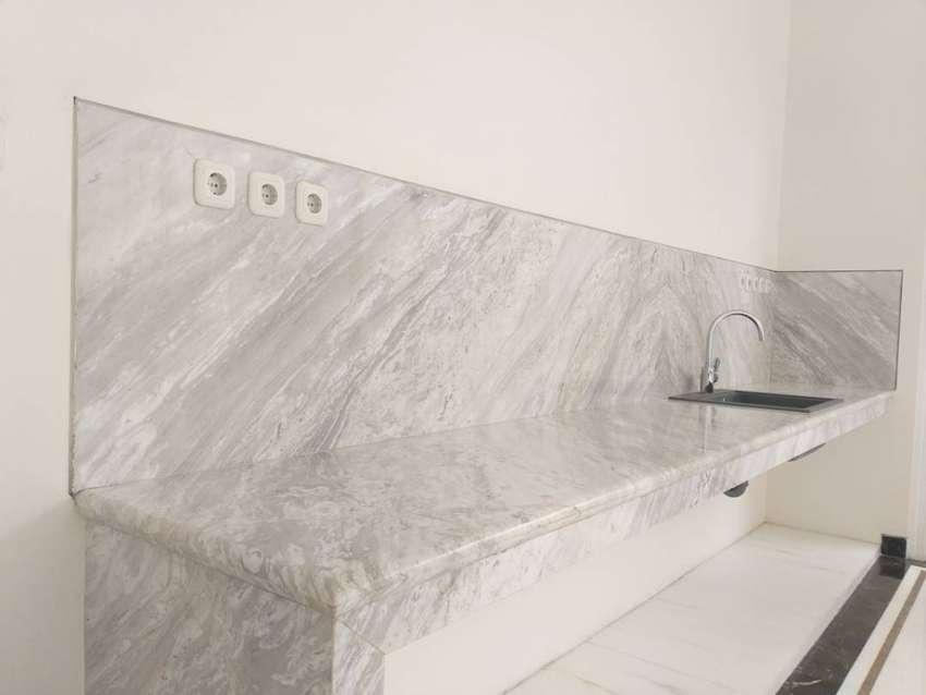 Kitchen Marmer Top Table meja dapur pantry bar Marmer Granit alam
