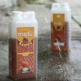 Madu Murni Bunga Randu 1 KG dan Madu pahit 360 Gram herbal Mabruuk