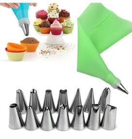 Confectionery Bag With Nozzles Icing and Cake Decorating Tool