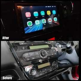 Before After- Sebelum Sesudah Upgrade Headunit Standar Pake Android