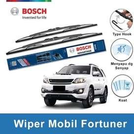 Bersihkan Kaca Lebih Optimal- Wiper BOSCH Advantage Fortuner