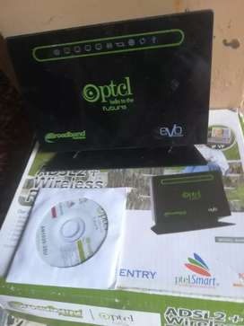 Ptcl wifi router and modem & evo usb