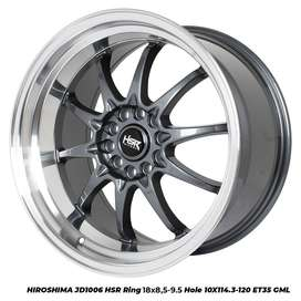 Velg baru Hsr HIROSHIMA JD1006 HSR R18X85/10 H10X114,3-120 ET30/35 GML