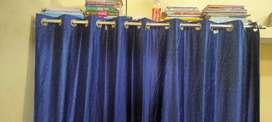 Blue colour prda with steel pipe prda 4 pics hai  7/4 length