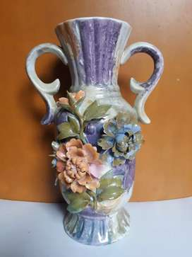 Guci China Kuno Keramik Cina motif Batik Pajangan Meja Guci Vas Bunga