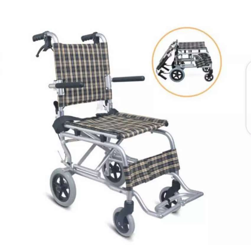 Compact Wheelchair Full Foldable Umrah Wheelchair for traveling 0
