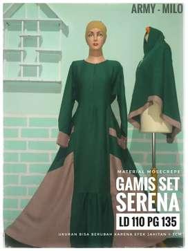 Gamis Set Serena Army