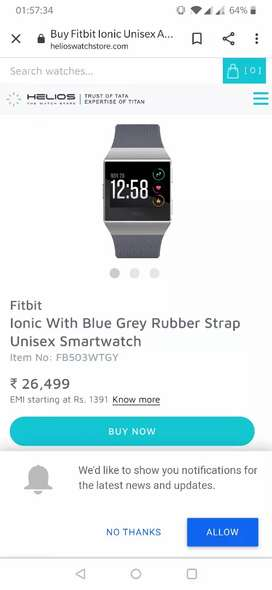 Fitbit ionic new condition