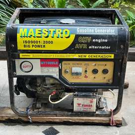 Genset Bensin 5.5KVA Bekas Maestro MT7000LE Gasoline 5KVA 5000W
