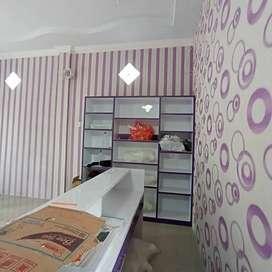 design dinding elegan dengan wallpaper premium bahanterbaik kami