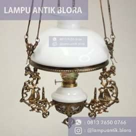Lampu antik gantung/katrol jawa ukuran 28