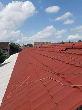 Baja Ringan dan Atap Metal Pasir GLOBE TRUSS Komplit Terpasang HEMAT