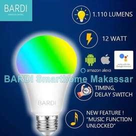 BARDI 12 W Lampu Led Wifi Warna Warni Remot Dari Hp Pintar Otomatis