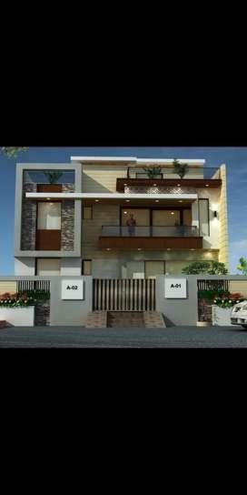 Floor plan 4/5 Bhk house 3d elevation with 2Ddetails As per vastu