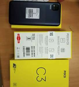 Poco c3 available in reasonable price with Bill and box