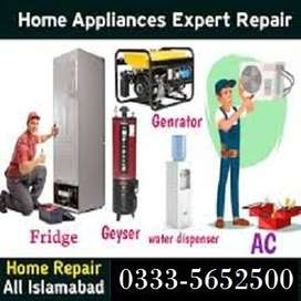 A/C shifting Geyser Repairing Services Available