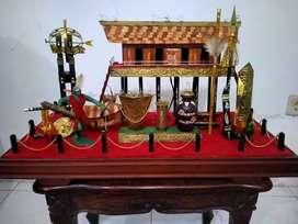 Diorama rumah suku Dayak Kalimantan
