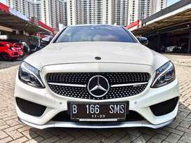 Mercy C43 Coupe AMG 2018 KM 8rb Putih ANTIK