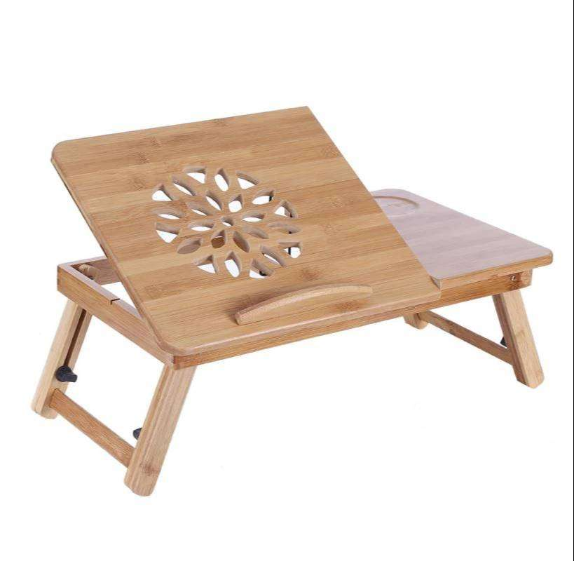 Wooden Bamboo Laptop Table-Deliverable across Pakistan 0