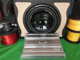 Paket Glerr Barang Branded Power 4ch CUBIG + Sub 12inc Embassy 309