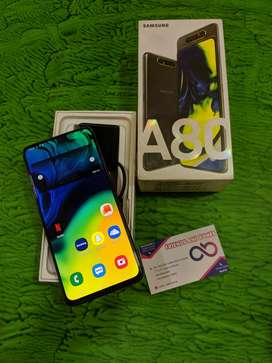 Samsung A80 black with full kit