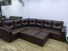 Emi bajaj finance 0% 9 seater sofa with center table