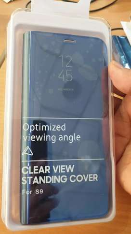 S9 Clear View standing cover (Blue)- Urgent