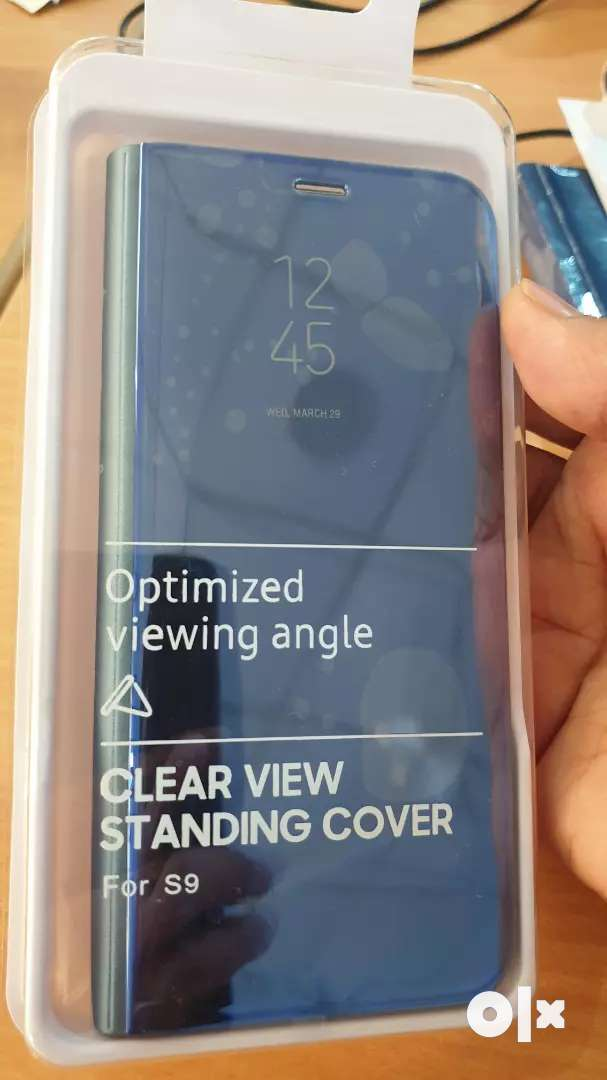 S9 Clear View standing cover (Blue)- Urgent 0
