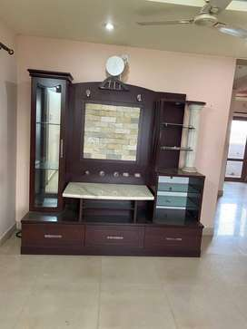 Ready to use Wood polished Cupboard with marble top,