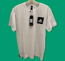 Adidas White Square Logo T-shirt