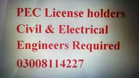 Civil Engineer & Electrical Engineer Required