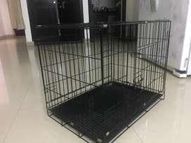 Dog cage black color