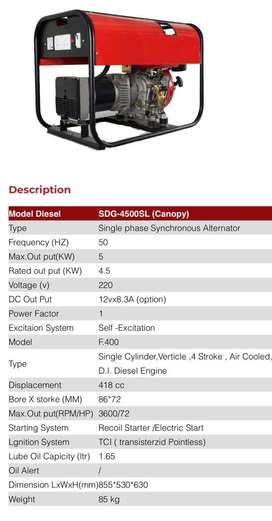 Diesel Generator (Sarover) 5kW With Self Start