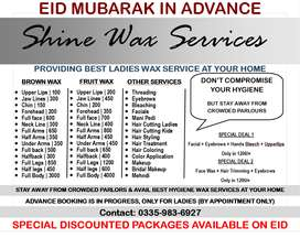 EID Parlor Service,Ladies Wax at ur home, Beauty Parlour Kids Saloon
