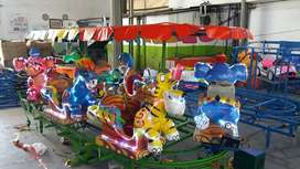 odong mainan kuda kudaan AR kereta rel panggung