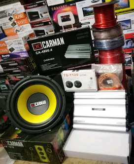 Plus Pasang, Subwoofer Carman+Power Carman+Tweeter TS+Box mdf+Kabel