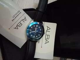 jam tangan alba lengkap wateresist 100meter