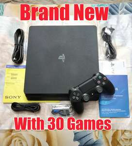 Sony Playstation 4 (Ps4) Brand New With 30 Games Slim 1TB Full Kit