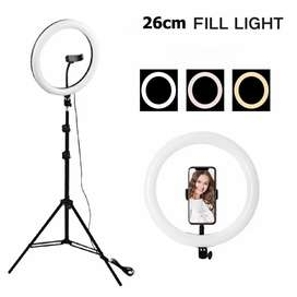 26 Cm Ring Light With 7 Feet Adjustable Tripod Stand