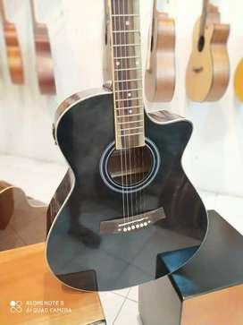 Taylor hitam akustik elektrik gitar jogja