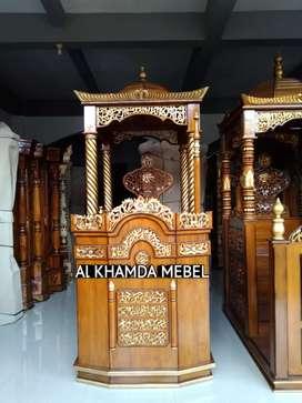 Ready Mimbar Masjid Material Kayu Jati Berkualitas @621