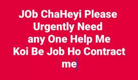 I Need Job Urgently Please Contect me