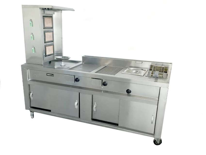 Shawarma Burger Fries and Grill Complete Setup NEW at factory price