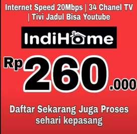 internet indihome unlimited kecepatan 20 mbps bonus tv 34 channel