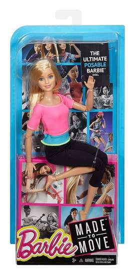 BARBIE MADE TO MOVE DOLL (PINK)