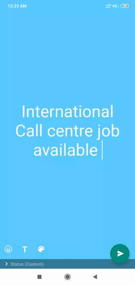 International call centre (English madatory)
