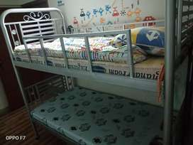 Bunk Bed (Silver Rod) With Mattresses