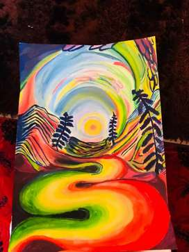 Art work psychedelic paint art